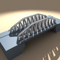 obj steel bridge