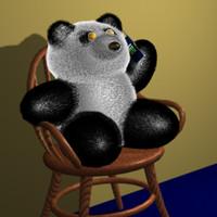 3ds panda fur joints