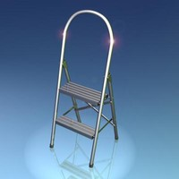 3ds max metal step ladder