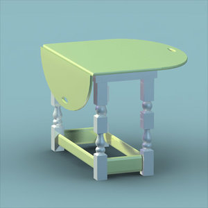 butler table 3d model