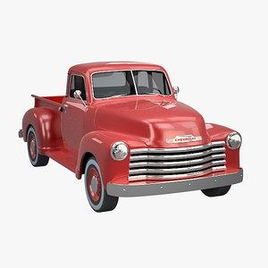 chevrolet pickup truck 1951 3d model