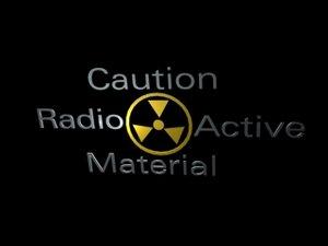 3d model caution radiation