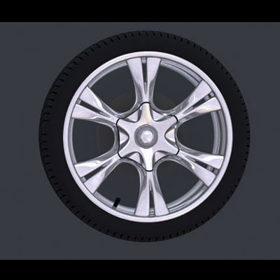 wheel 3d max