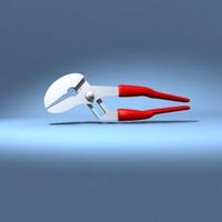 3d multigrip wrench model