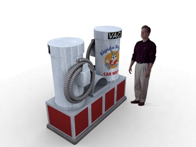 vacuum machine 3d max