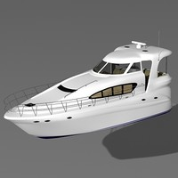 searay 480 yacht 3d model