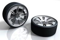alloy wheel tire 3d model