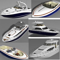 searay motor boat yacht 3d model