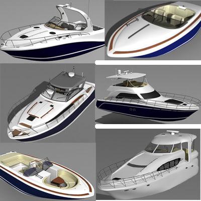 searay motor boat yacht 3d model