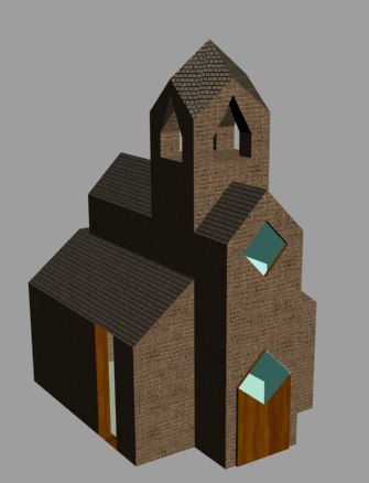 church materials games 3d obj