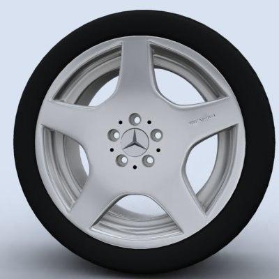3d model amg wheel rim