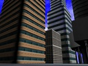3d buildings block office model