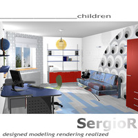 raytracing children s room furniture ma