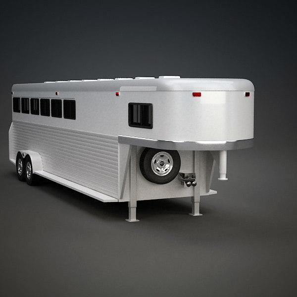 horse trailer 3d model