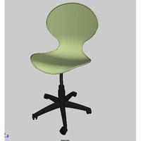 computer chair bunnylift 3d dxf