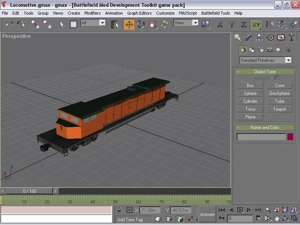 3ds max locomotive