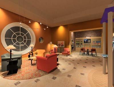 3d max cafe interior