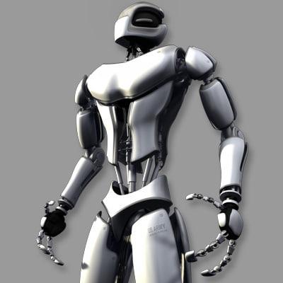 3d model advanced robot character basic