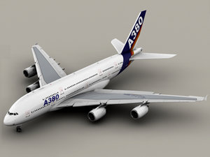 airbus a380 old house 3d model