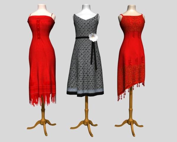 3d model mannequins clothes