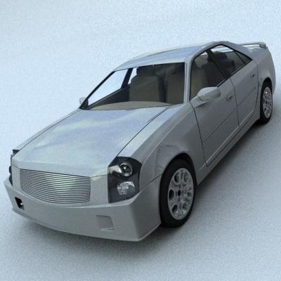 3d model cadillac cts 2003