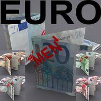 euro monetary 0 3d model
