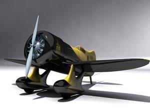 engine gee bee z 3d model