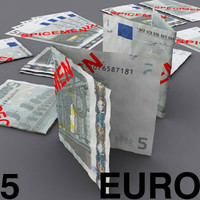 5 euro 3d model