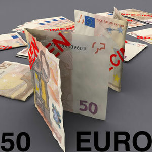 50 euro 3d model
