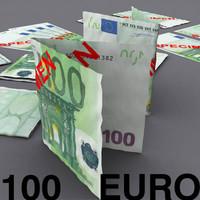 100 euro 3d model