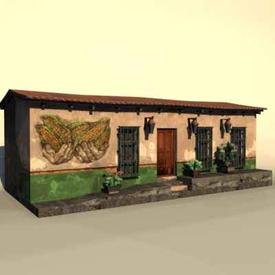 mexico house 3d model