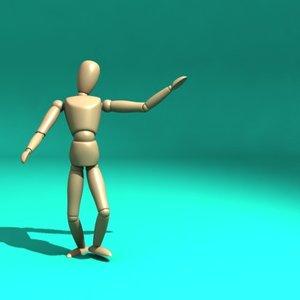 artist mannequin 3d model