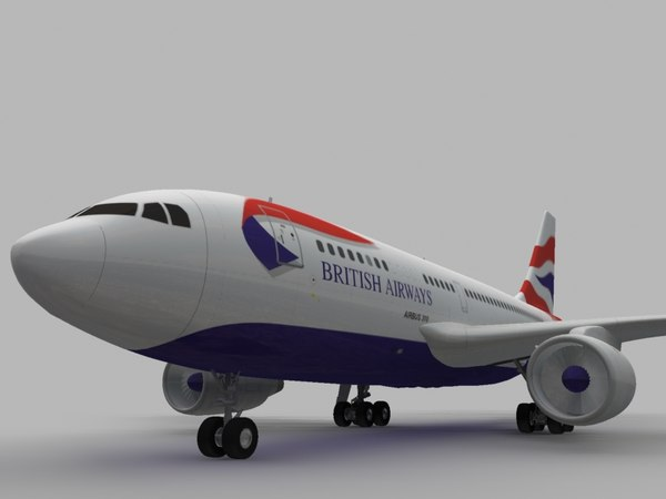 3d airbus 310 british airways