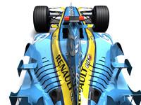 renault r25 f1 racecar 3d 3ds
