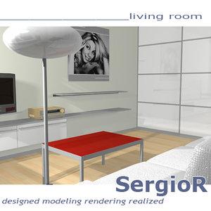 scene livingroom 3d ma