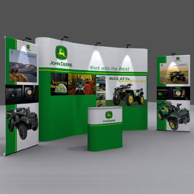 show-up display exhibition stand 3d lwo