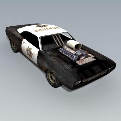 3d car police