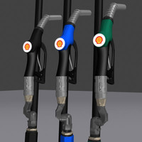 shell gas nozzle 3d model