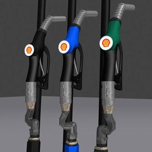 shell gas nozzle 3d model