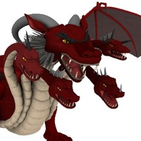 5 head dragon lightwave 3d model