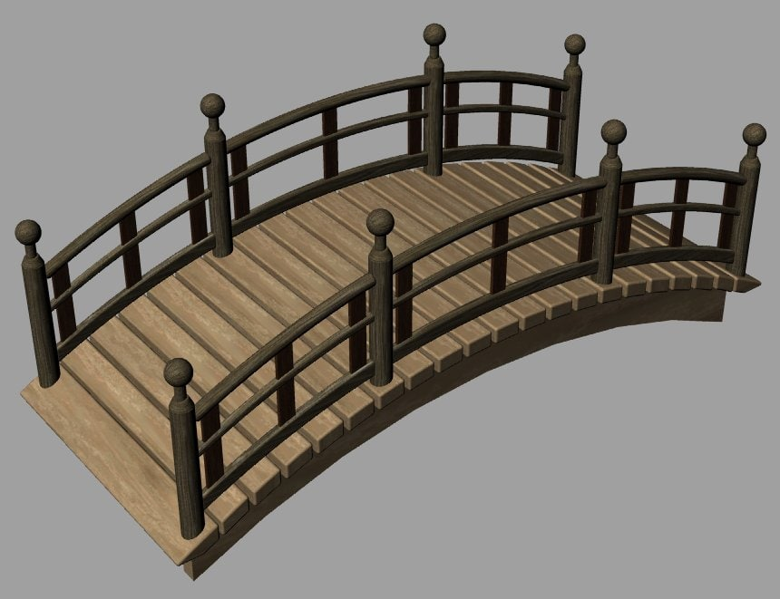 garden bridge 3d 3dm