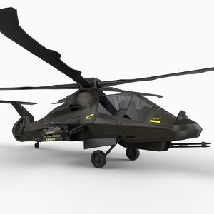 rah-66 attack helicopter comanche 3d model