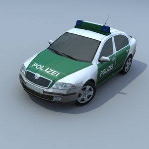 german police skoda octavia 3d model