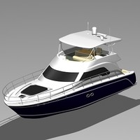 3d model searay 525 sundancer motor boat