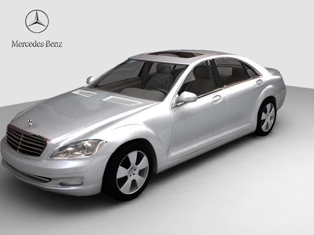 new mercedes s-class s 3d max