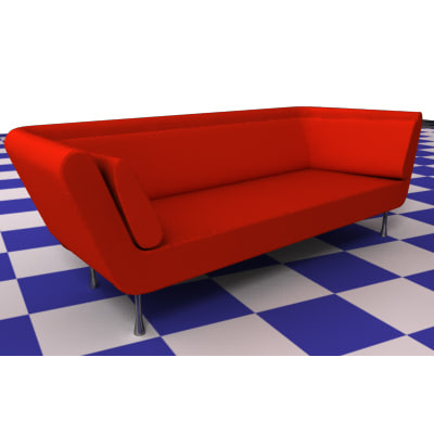 3d model sofa young ligne roset