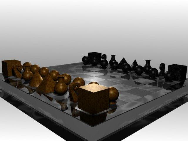 free chess set 3d model
