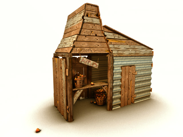3d model old apple shack