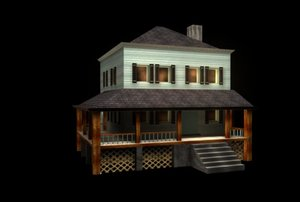 3d model country farm house