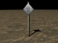 3ds max old dead end sign
